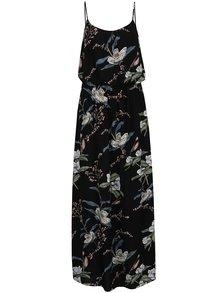 Rochie neagră ONLY Nova cu imprimeu floral si bretele