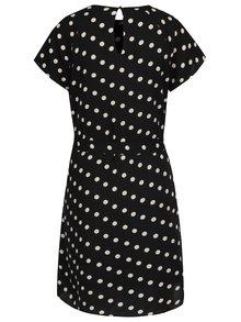 Krémovo-čierne bodkované šaty Vero Moda Nelli