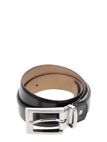 Černý kožený pásek s kovovou přezkou Selected Homme Belt