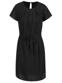 Rochie neagra cu pliuri Vero Moda Nelli