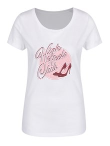 Bílé dámské tričko ZOOT Originál Heels club