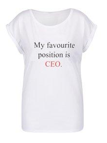 Biele dámske voľné tričko ZOOT Originál My favourite position