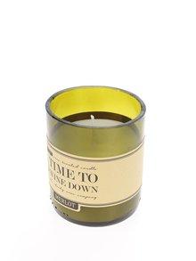 Vonná sviečka v tvare dna fľaše CGB Merlot