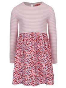 Růžové holčičí šaty s pruhovaným topem Tom Joule