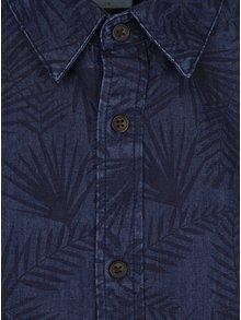 Modrá džínová košile s krátkým rukávem Burton Menswear London