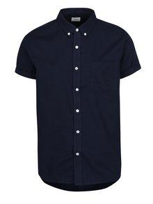 Camasa bleumarinj Burton Menswear London din bumbac