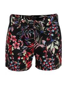 Pantaloni scurți negri cu imprimeu floral Dorothy Perkins