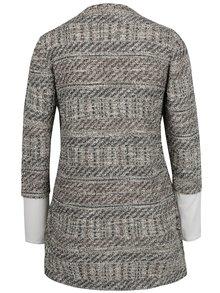 Krémovo-sivý kardigán so všitým tričkom Desigual Patricia