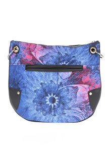 Modrá květovaná crossbody kabelka Desigual Brooklyn Carlin