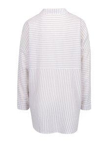 Krémovo-béžová pruhovaná voľná košeľa Apricot