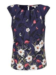 Bluză  albastră Apricot cu flori și fluturi