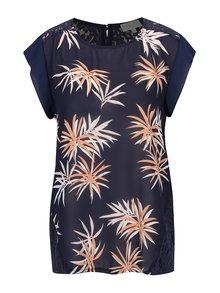 Bluză bleumarin Apricot cu flori