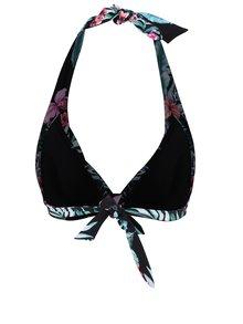 Čierny vrchný diel plaviek s tropickým vzorom Dorothy Perkins
