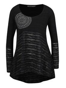 Bluză neagră ZOOT cu inserții argintii