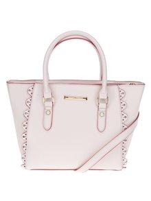 Růžovo-krémová kabelka s perforovanými detaily Dorothy Perkins