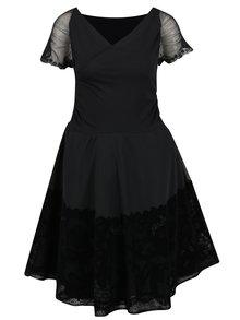 Rochie neagră cu decolteu suprapus  Desigual Betty