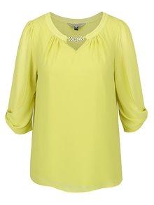 Bluză galbenă  Billie & Blossom cu detaliu argintiu