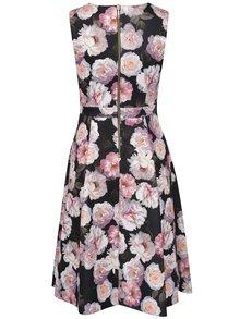 Ružovo-čierne šaty s potlačou ruží Dorothy Perkins Petite