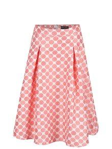 Oranžovo-Krémová sukně s puntíky Dorothy Perkins