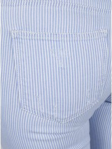 Pantaloni cu dungi si terminatie nefinisata Miss Selfridge