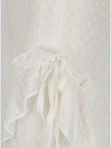 Krémová průsvitná vzorovaná halenka s vázáním na zádech Miss Selfridge