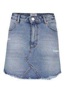 Modrá džínová minisukně s potrhaným efektem Miss Selfridge