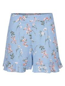 Modré kvetované kraťasy s vysokým pásom Miss Selfridge Petites