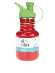 Sticlă de apă roșu & verde Klean Kanteen Kid Classic Sport 355 ml