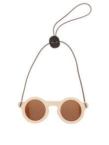 Ochelari de soare unisex cu ramă de lemn și lentilă maro OO! Eyewear Teddy