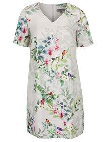 Svetlosivé kvetované šaty Ulla Popken