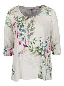 Bluză gri deschis Ulla Popken  cu print floral