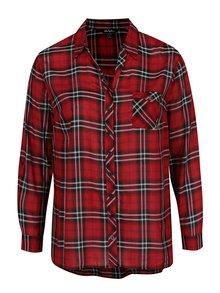 Červená kostkovaná košile Ulla Popken