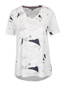 Krémové tričko s potlačou Ulla Popken
