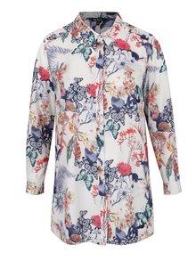 Krémová květovaná košile Ulla Popken