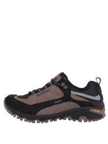 Pantofi sport maro cu negru din piele BUSHMAN Chipo