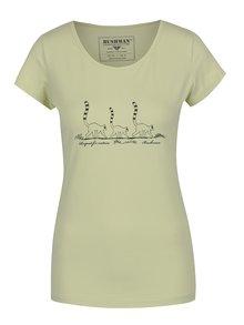 Zelené dámské tričko s potiskem BUSHMAN Selma
