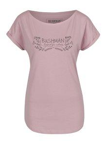 Tricou roz  BUSHMAN Ortona cu manșete