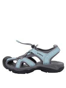 Sandale turcoaz & gri din piele BUSHMAN Vega cu vârf acoperit