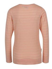 Oranžový dámský lehký svetr s véčkovým výstřihem BUSHMAN Samsula