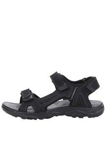 Černé pánské kožené sandály BUSHMAN Antares