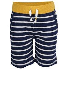 Pantaloni scurți alb & albastru Tom Joule din bumbac cu model în dungi și talie elastică pentru băieți