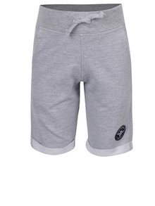 Pantaloni scurți gri melanj Blue Seven cu aplicație