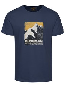 Tmavomodré pánske tričko s potlačou BUSHMAN Siston