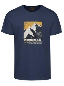 Tricou bleumarin cu print multicolor BUSHMAN Siston