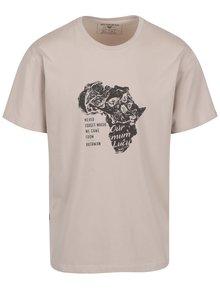 Tricou bej cu print Africa BUSHMAN Goliad