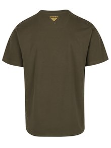 Tmavozelené pánske tričko s potlačou BUSHMAN Yoakum