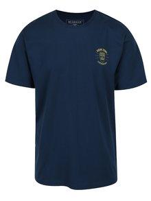 Tricou bleumarin cu print galben BUSHMAN Axis