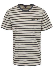 Sivo-béžové pánske pruhované tričko BUSHMAN Sailor