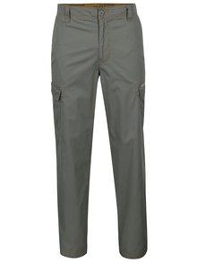Zelené pánské kalhoty s nakládanými bočními kapsami BUSHMAN Worth II.