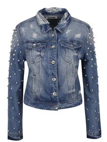 Modrá džínová bunda s korálkami Haily's Pearl